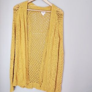 Mustard yellow cardigan sz M